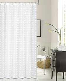 Cut Flower Shower Curtain With 3D Puffs