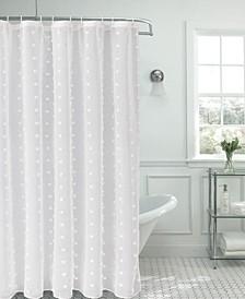 Snowball Shower Curtain With 3D Snowballs