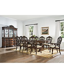 Reya Dining 9-Pc Set ( Table + 6 Side Chairs + 2 Arm Chairs)