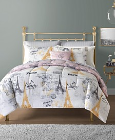 Paris 12-Pc. Reversible Comforter Sets