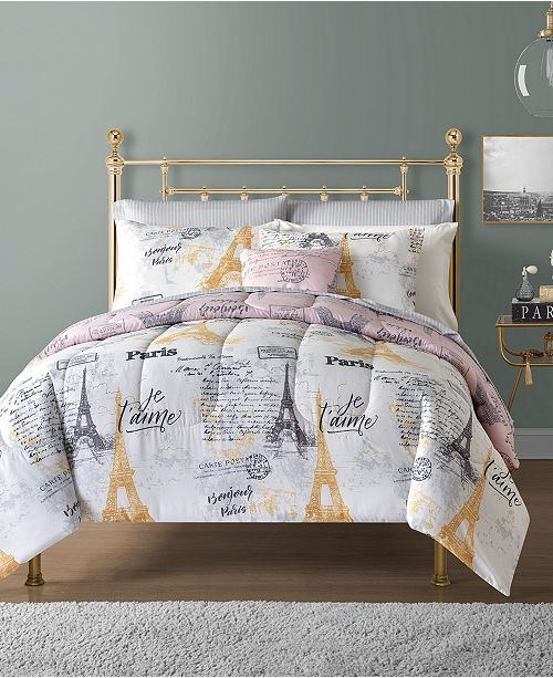 Sunham Paris 12-Pc. Reversible Comforter Sets
