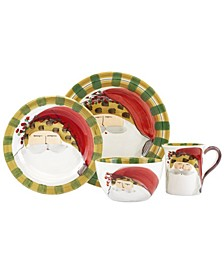 Old St. Nick Animal Hat 4 Piece Place Setting