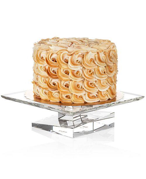 JoyJolt Carre Square Cake Plate