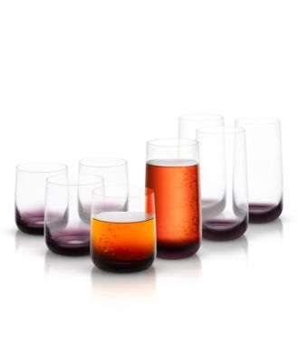 Black Swan Whiskey and Highball Glass Collection Set of 8