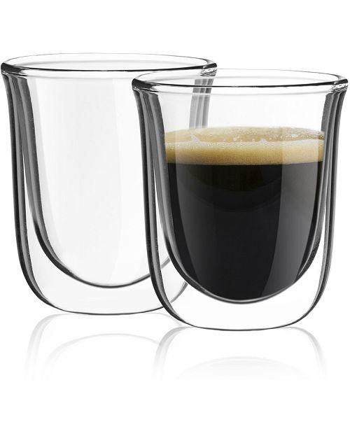 JoyJolt Javaah Double Wall Espresso Glasses Set of 2