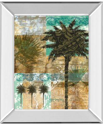 "Palm III by Maeve Fitzsimons Mirror Framed Print Wall Art, 22"" x 26"""