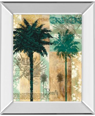 "Palm II by Maeve Fitzsimons Mirror Framed Print Wall Art, 22"" x 26"""
