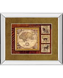 "Journey To Africa II by Tava Studio Mirror Framed Print Wall Art, 34"" x 40"""