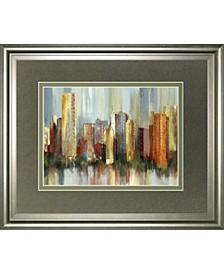 """Metropolis by Tom Reeves Framed Print Wall Art, 34"""" x 40"""""""