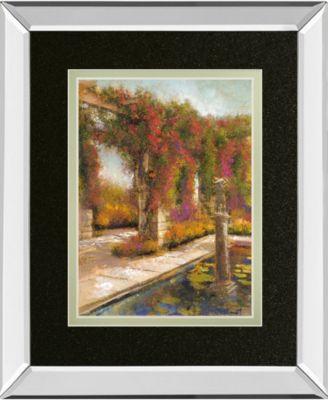 "English Garden I by Patrick Mirror Framed Print Wall Art, 34"" x 40"""