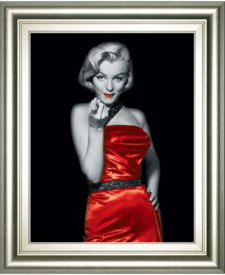 """Lady in Red 2 by Chelsea Collection Framed Print Wall Art, 22"""" x 26"""""""