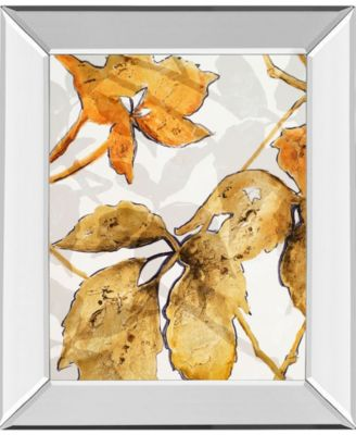 "Gold Shadows II by Patricia Pinto Mirror Framed Print Wall Art, 22"" x 26"""