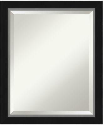 "Eva Silver-tone Framed Bathroom Vanity Wall Mirror, 19.12"" x 23.12"""