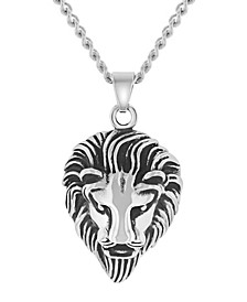 Men's Lion's Head Pendant Necklace