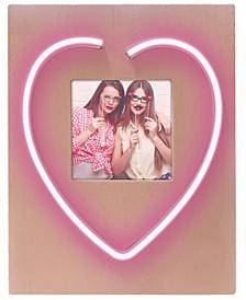"Neon ""Heart"" Photo Frame"