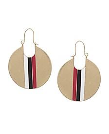 Racing Stripe Hoop Earrings