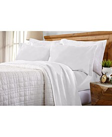 Home Fashions Designs Maya Collection Fleece Solid Queen Sheet Set