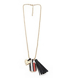 Long Necklace with Charm Dropoffs