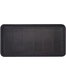 "Rubber Boot Floor Tray Mat, 16"" x 32"", 2 Pack"