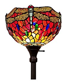 Tiffany Style Dragonfly Torchiere Floor Lamp