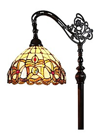 Tiffany-Style Victorian Reading Floor Lamp