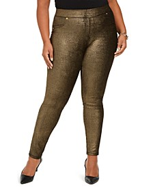 Plus Size Shimmer Jeggings