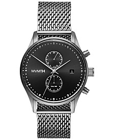 Men's Voyager Sterling Stainless Steel Mesh Bracelet Watch 42mm
