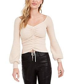 Julisa Ribbed Rouched Sweater