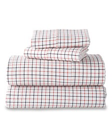 G.H. Bass Small Check Queen Sheet Set