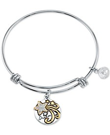 Dream Charm Bangle Bracelet in Two-Tone Stainless Steel