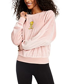 Juniors' Tweety Bird Fuzzy Top