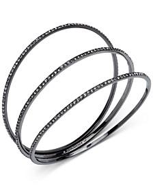 3-Pc. Pavé Bangle Bracelets Set