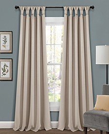 "Lush Decor Knotted Tab Top 52"" x 84"" Blackout Curtain Set"
