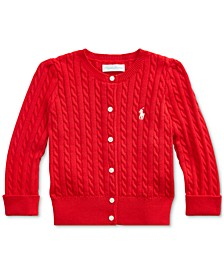 Baby Girl's Cable-Knit Cotton Cardigan