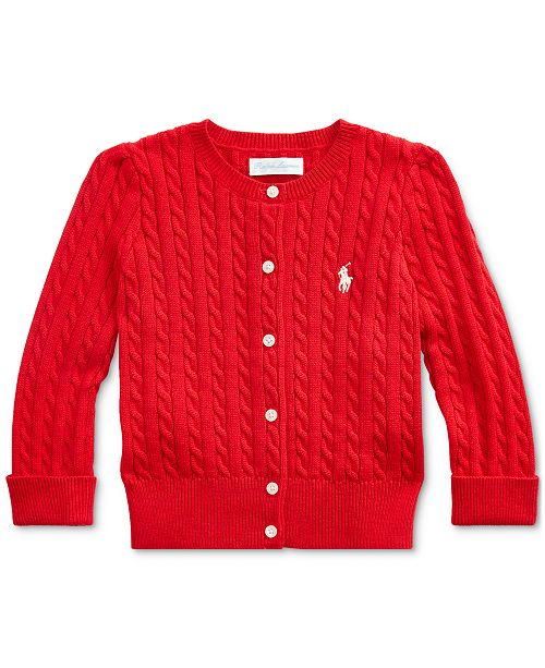 Polo Ralph Lauren Baby Girl's Cable-Knit Cotton Cardigan