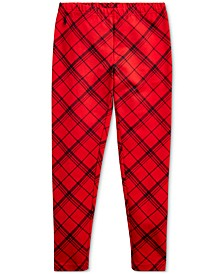Big Girl's Plaid Stretch Jersey Legging