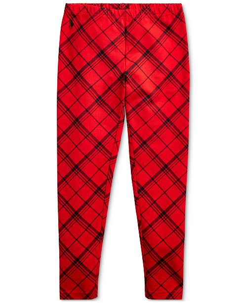 Polo Ralph Lauren Big Girl's Plaid Stretch Jersey Legging
