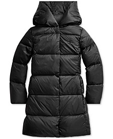 Big Girl's Quilted Down Long Coat