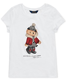 Big Girl's Holiday Bear Cotton Jersey T-Shirt