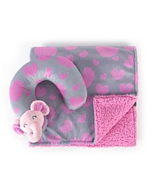 Tadpoles Travel Pillow and Blanket Set, Crib