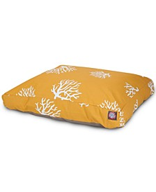 Coral Rectangle Dog Bed