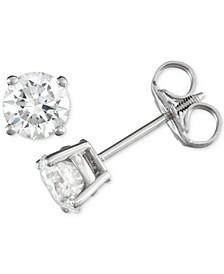 Diamond Stud Earrings (3/4 ct. t.w.) in 14k White Gold