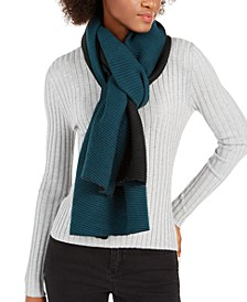 Double Faced Pleated Blanket Scarf