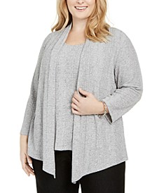 Plus Size Sapphire Skies Layered-Look Top