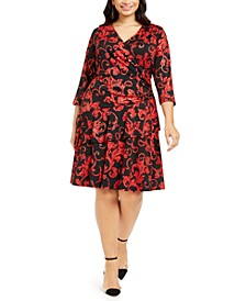 Plus Size Tiered Surplice Dress