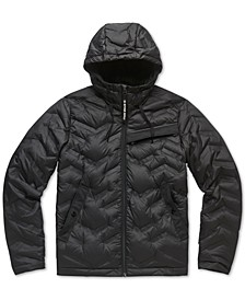 Men's Quilted Hooded Jacket, Created For Macy's