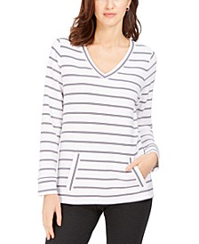 Striped V-Neck Tunic, Created for Macy's