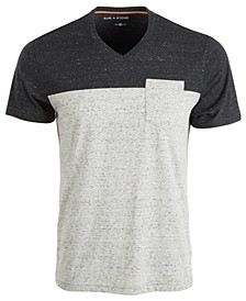 SUN + STONE Men's Heathered V-Neck T-Shirt, Created For Macy's