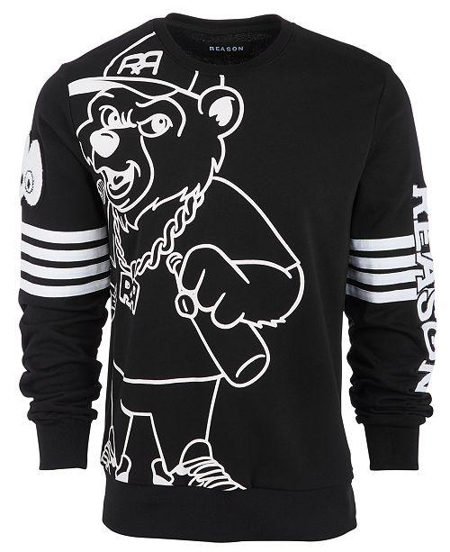 Reason Men's Bear Graphic Sweatshirt