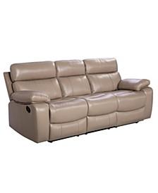 "Alexander 87"" Leather Recliner Sofa"